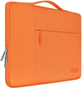 MOSISO Laptop Sleeve Compatible with 13-13.3 inch MacBook Air, MacBook Pro, Notebook Computer, Polyester Multifunctional Briefcase Bag, Orange