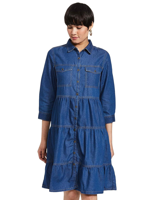 Amazon Brand – Inkast Denim Co. Cotton a-line Dress