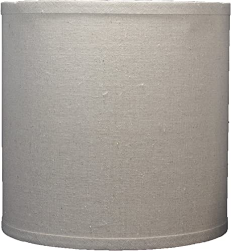 Urbanest Linen Drum Lamp Shade, 10-inch by 10-inch by 10-inch, Natural, Spider