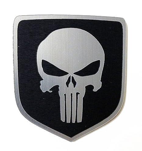 Amazoncom 2008 Dodge Ram Truck Front Emblem Punisher Black