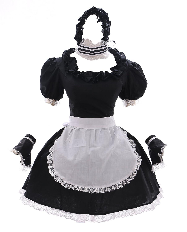 M-T27W Noir Black Soubrette Soubrette Robe Dress Costume Cosplay Costume Story Style Kawaii