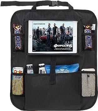 Tech Traders/® Sedile Posteriore Organizer con Kids Tablet iPad Holder Kick Mat Protector Storage 2/Pezzi Impermeabile Sedile Posteriore Protezioni con 25,4/cm iPad Holder-