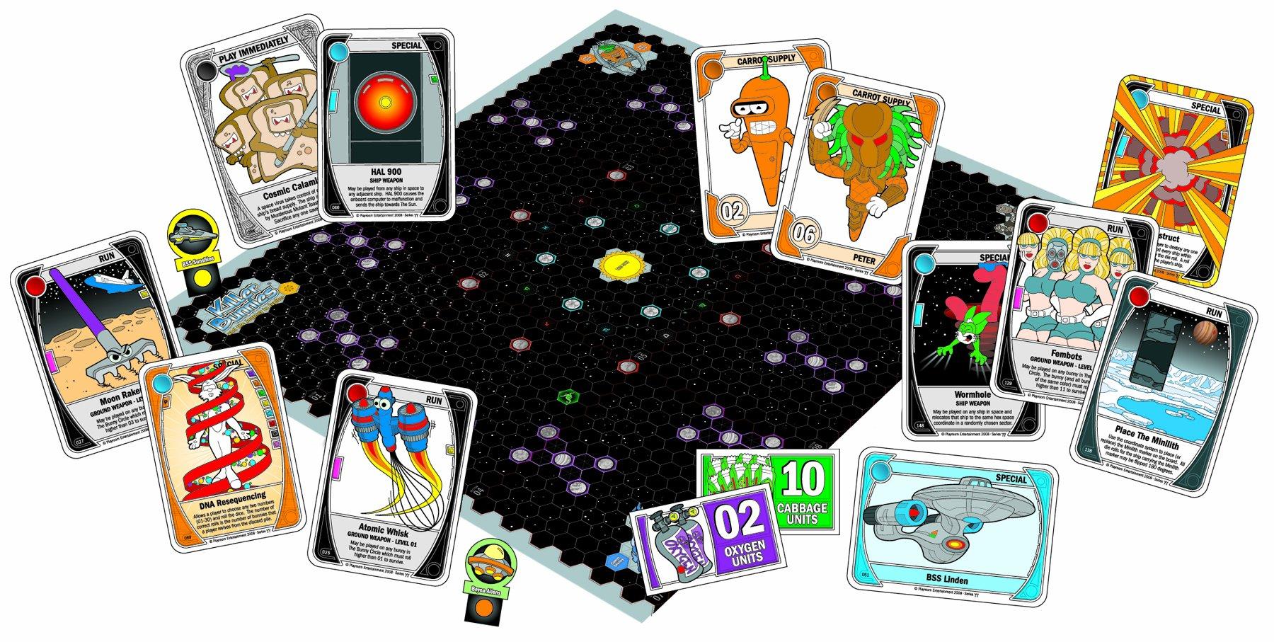 Killer Bunnies Jupiter Blue Starter Card Game