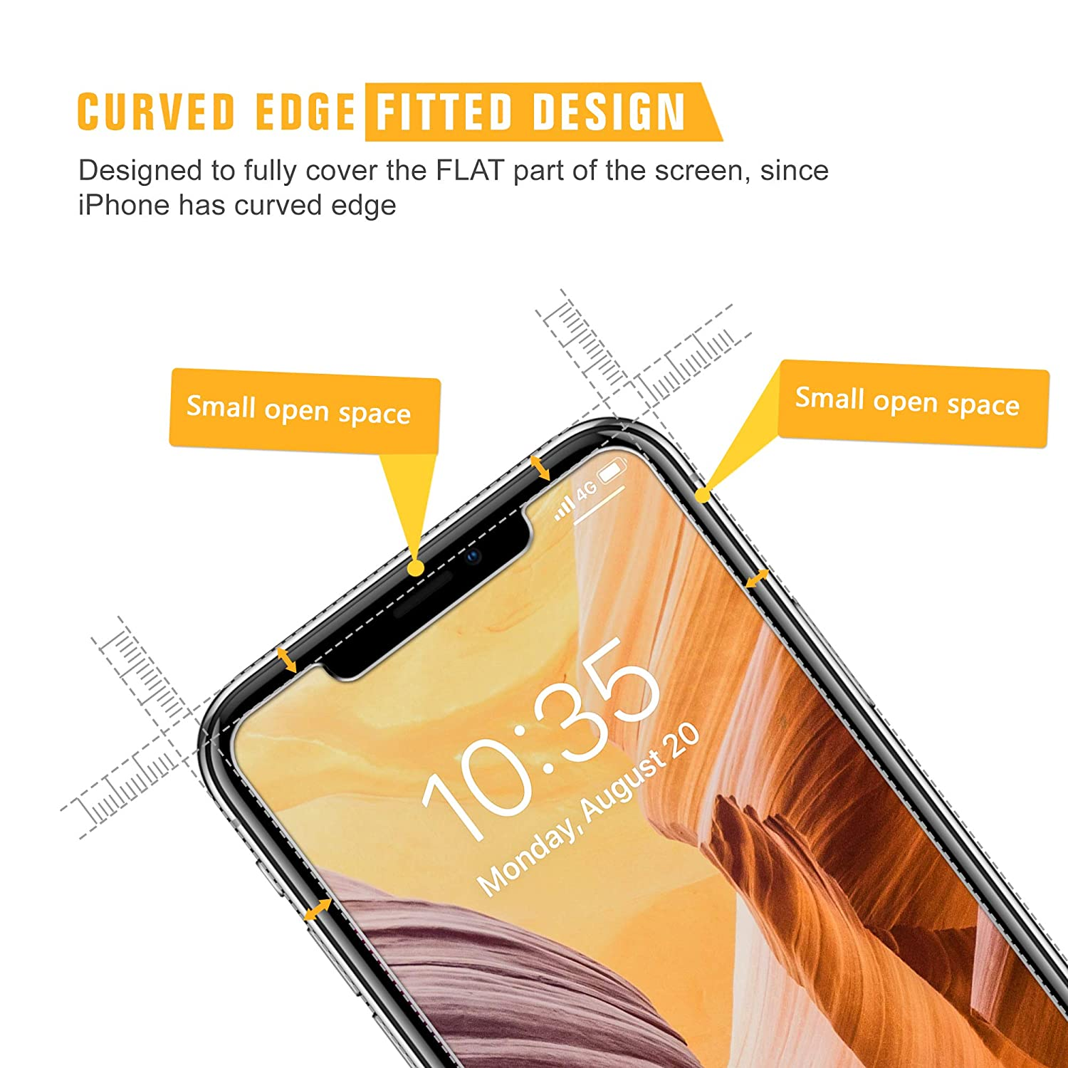 Scratch Proof Alignment Frame 9H Hardness Tempered Glass for iPhone Xs Max 6.5 inch Bubble Free 4 Pack SPARIN Screen Protector for iPhone Xs Max, High Responsive