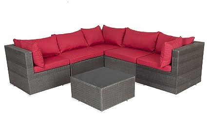 Amazon.com : Patio Sense 62173 Sino Wicker Sofa Set ...