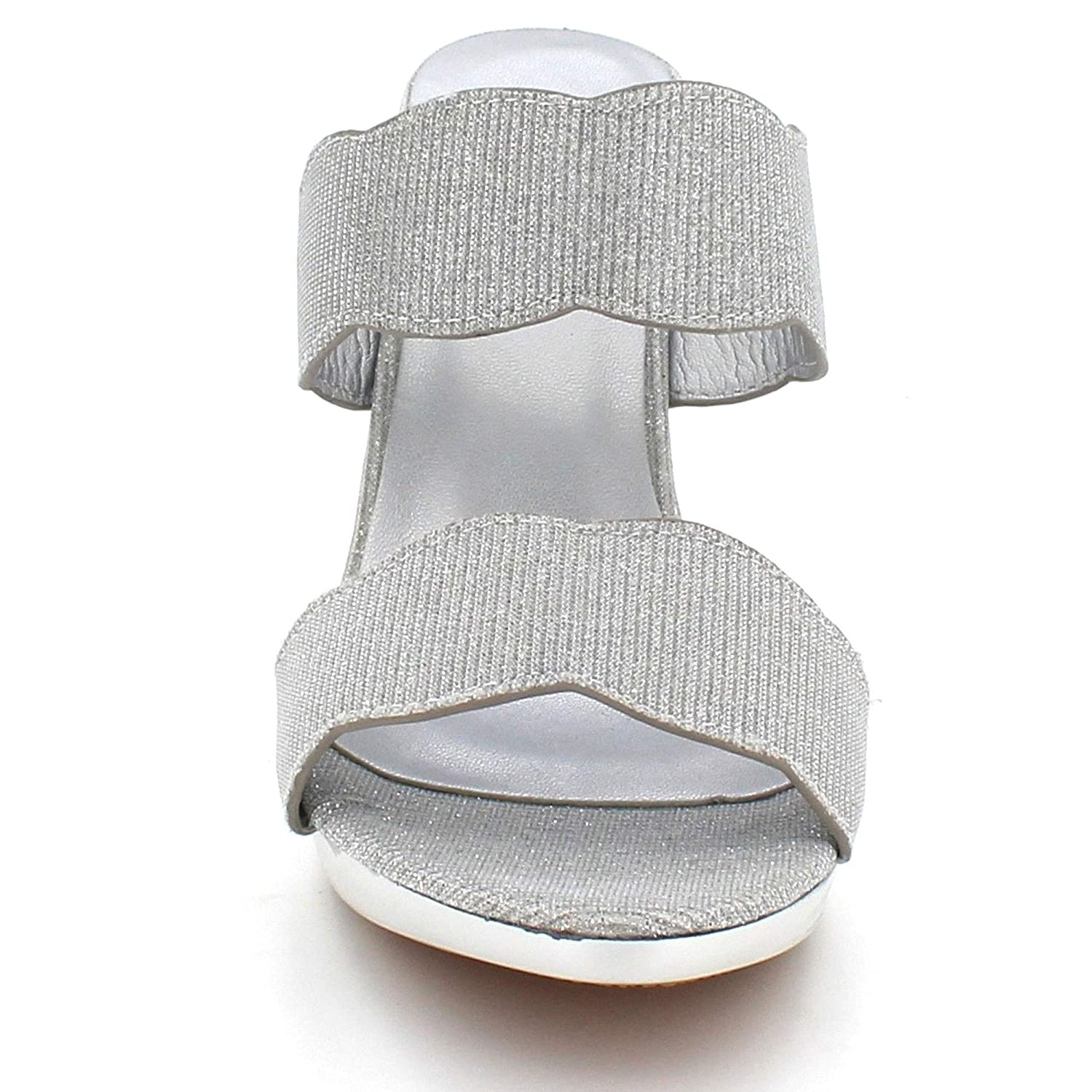 Womens Ladies Dazzling Open Toe Evening Wedding Party Bridal High Heel Slip on Sandals Shoes Size