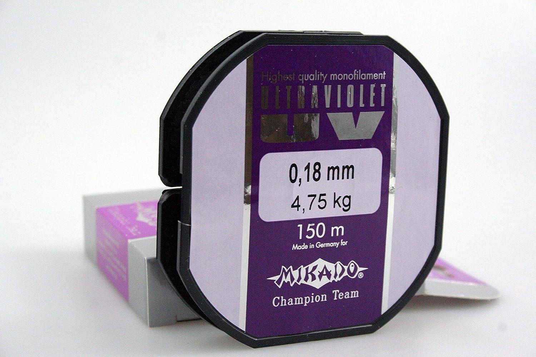 150m MIKADO ULTRAVIOLET high Performance Wettkampf Angelschnur erh/ältlich von /Ø0,06 bis /Ø0,40mm