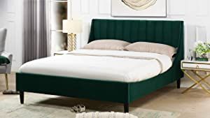 Sandy Wilson Home Aspen Platform Bed, Queen, Evergreen