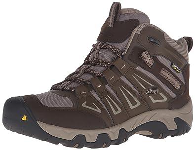 KEEN Men's Oakridge Mid Waterproof Shoe, Cascade/Brindle, ...