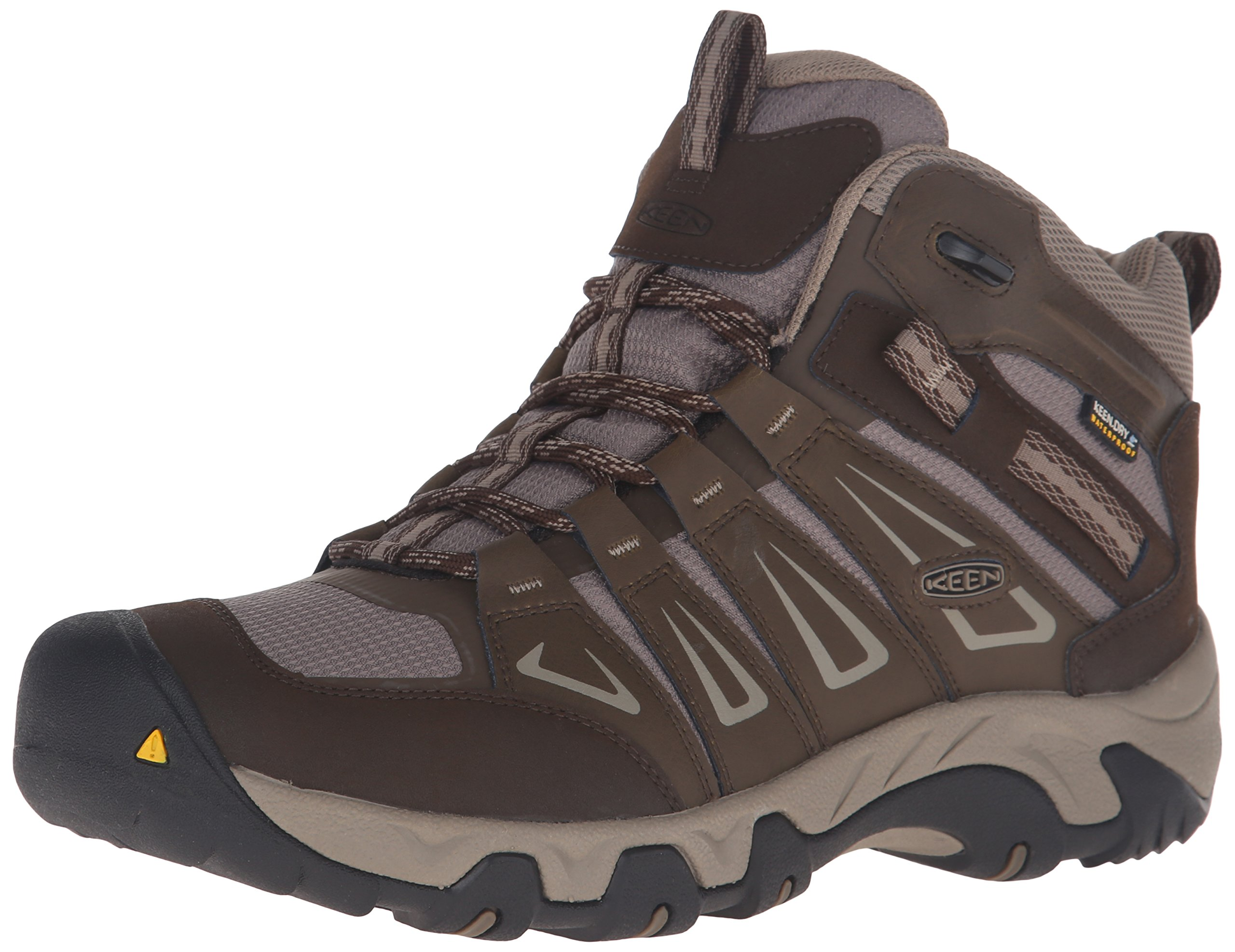 KEEN Men's Oakridge Mid Waterproof Shoe, Cascade/Brindle, 12 M US