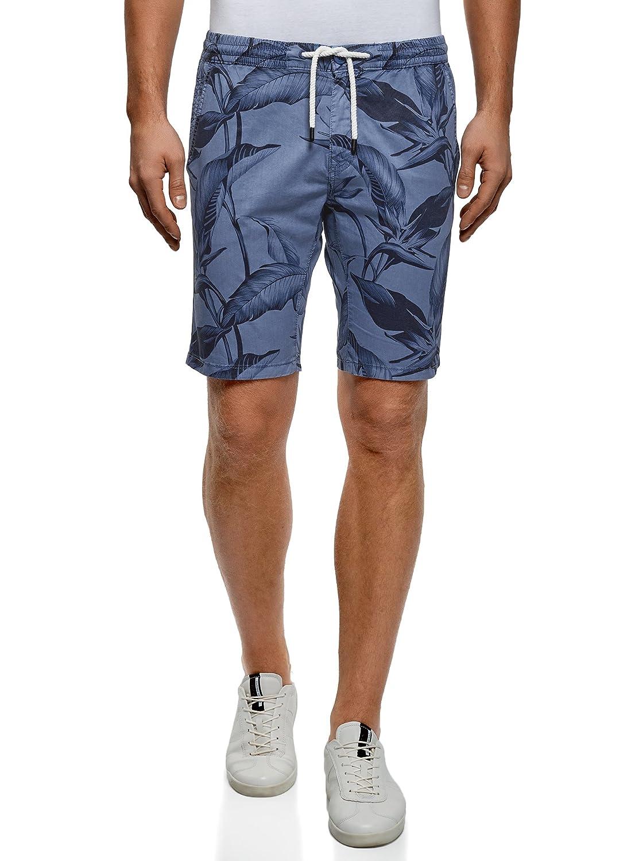oodji Ultra Uomo Pantaloncini Stampati con Laccetti RIFICZECH s.r.o. 2L710031M