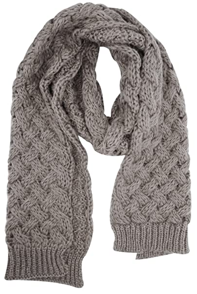 a85bfbb0e42456 Women's Thick Soft Cable Knit Neck Warmer Long Scarf Shoulder Wrap Shawl,  Coffee