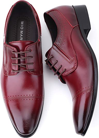 Winter New Leather Shoes 11 M US, Black YMA852-W10 Business Dress Leather UK Carved Men Shoes Oxford Laces Leather Shoes Men