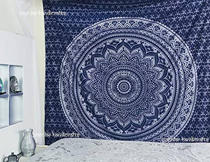 Amazon Com Popular Handicrafts King Size Tapestries Hippie Mandala
