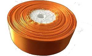 Satin Ribbon Orange 25mm X 36yards