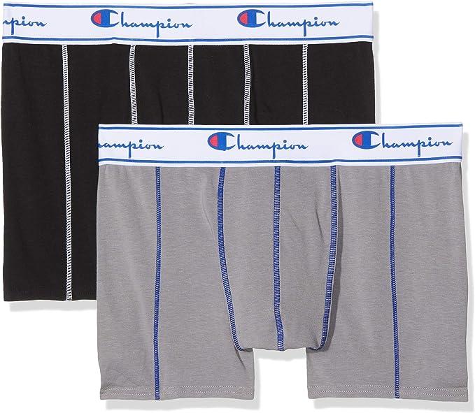 Champion Coton Bóxer (Pack de 2) para Hombre: Amazon.es: Ropa y ...