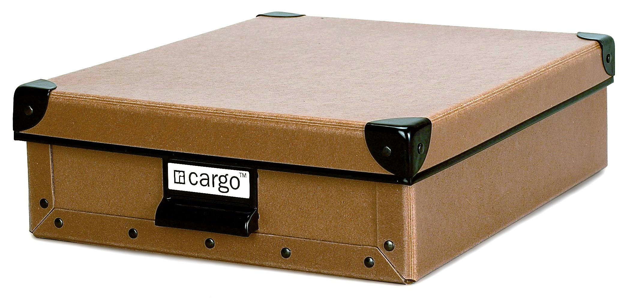 Cargo Naturals Stationery Box, Nutmeg, 3-3/4 by 12-1/2 by 10-1/2-Inch