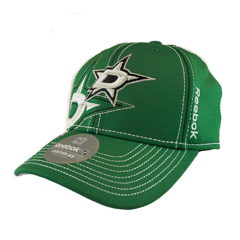 M250Z Adult S//M Reebok Dallas Stars Green Draft Cap Fitted Hat