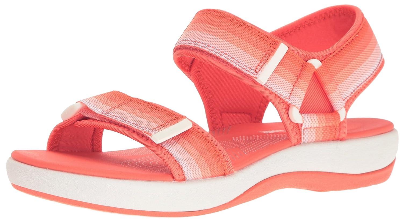 CLARKS Women's Brizo Ravena Flat Sandal B01IAVXMNC 5.5 B(M) US|Coral