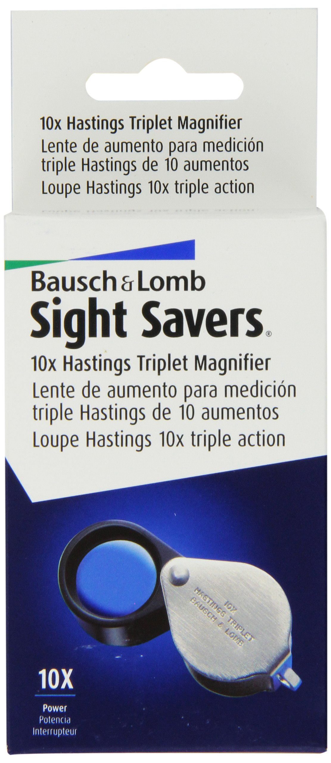 Bausch and Lomb Sight Savers Hastings Triplet 10X Magnifier 816171 by Bausch & Lomb