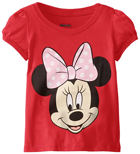 d8c445da55c9a Amazon.com: Disney Girls' Minnie Mouse T-Shirt: Clothing