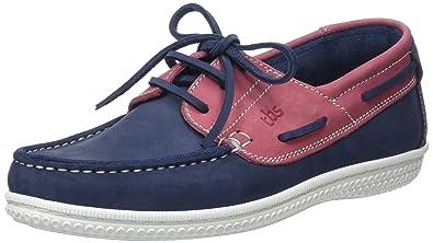 TBS Yolles D8, Chaussures Bateau Hommes, Bleu marine/rose (Outremer Goyave)