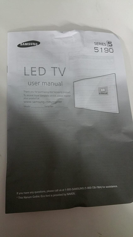 Samsung BN68 – 07181p Manual (2pc): Amazon.es: Electrónica