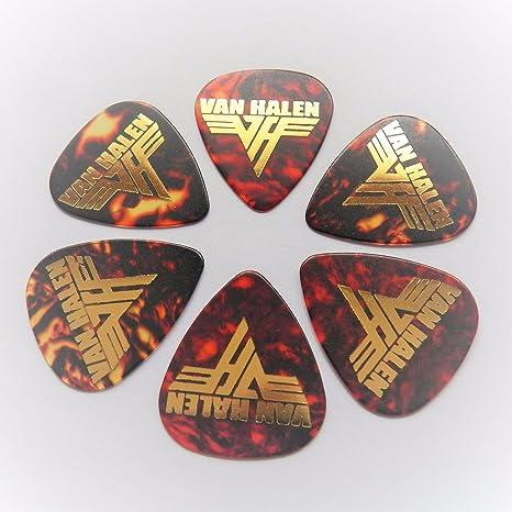 Eddie Van Halen FIRMA X6 de caparazón de tortuga impresión púa ...