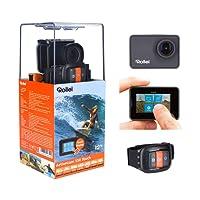 Rollei Actioncam 550 Touch - Action Cam WiFi con schermo tattile e risoluzione video 4k, impermeabile fino a 40 m, con custodia impermeabile e telecomando