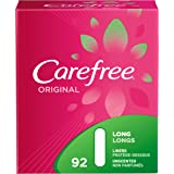 Carefree Original Ultra-Thin Panty Liners, Long, Unscented - 92 Count