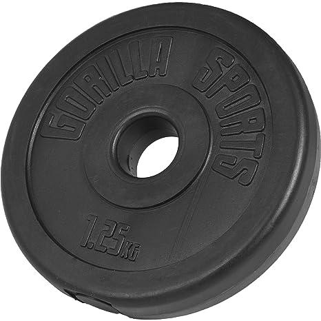 Welp GORILLA SPORTS® Hantelscheibe Kunststoff 1,25 kg Gewicht mit 30/31 IO-66