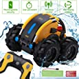 Apsung RC Stunt Car, Remote Control Car for Boys, Land and Water 2 in 1 360 Rotating Tumbling Car,Rechargeable Truck Toys, Kids