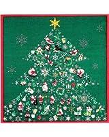 風呂敷 綿シャンタン 50㎝ 小風呂敷 ( ふろしき )54-6 タペストリーに最適 彩時記「クリスマス」