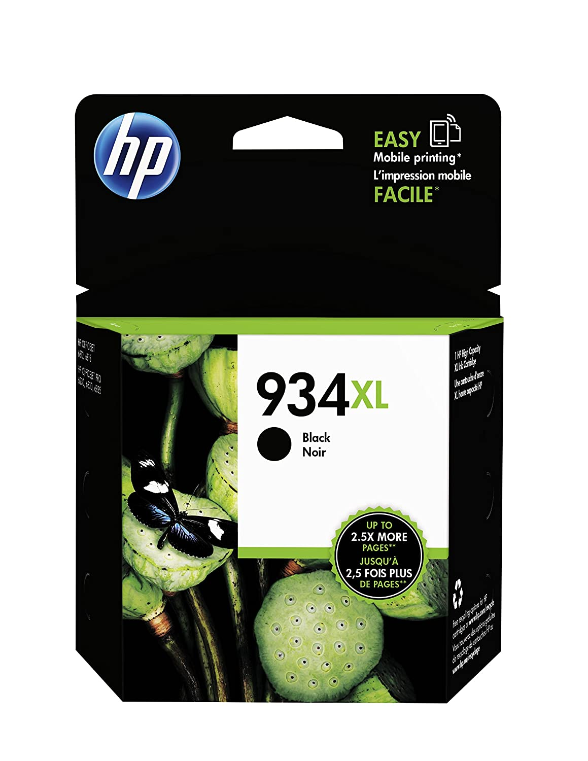 HP 934XL Black High Yield Original Ink Cartridge (C2P23AN) for HP Officejet 6812 6815 HP Officejet Pro 6230 6830 6835