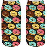 OHlive Suave Mujeres Doughnut 3D Impreso Zapatillas