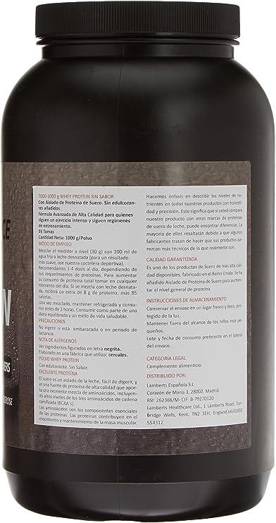 Lamberts Whey Protein Suplemento para Deportistas, sin Sabor - 1000 gr