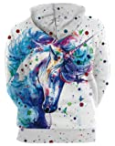 ENLACHIC Unisex Simulation 3D Alpaca Print Galaxy