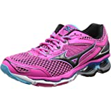MIZUNO J1GD160110 Wave Creation Women's Running Shoes, Black/Blue/Pink