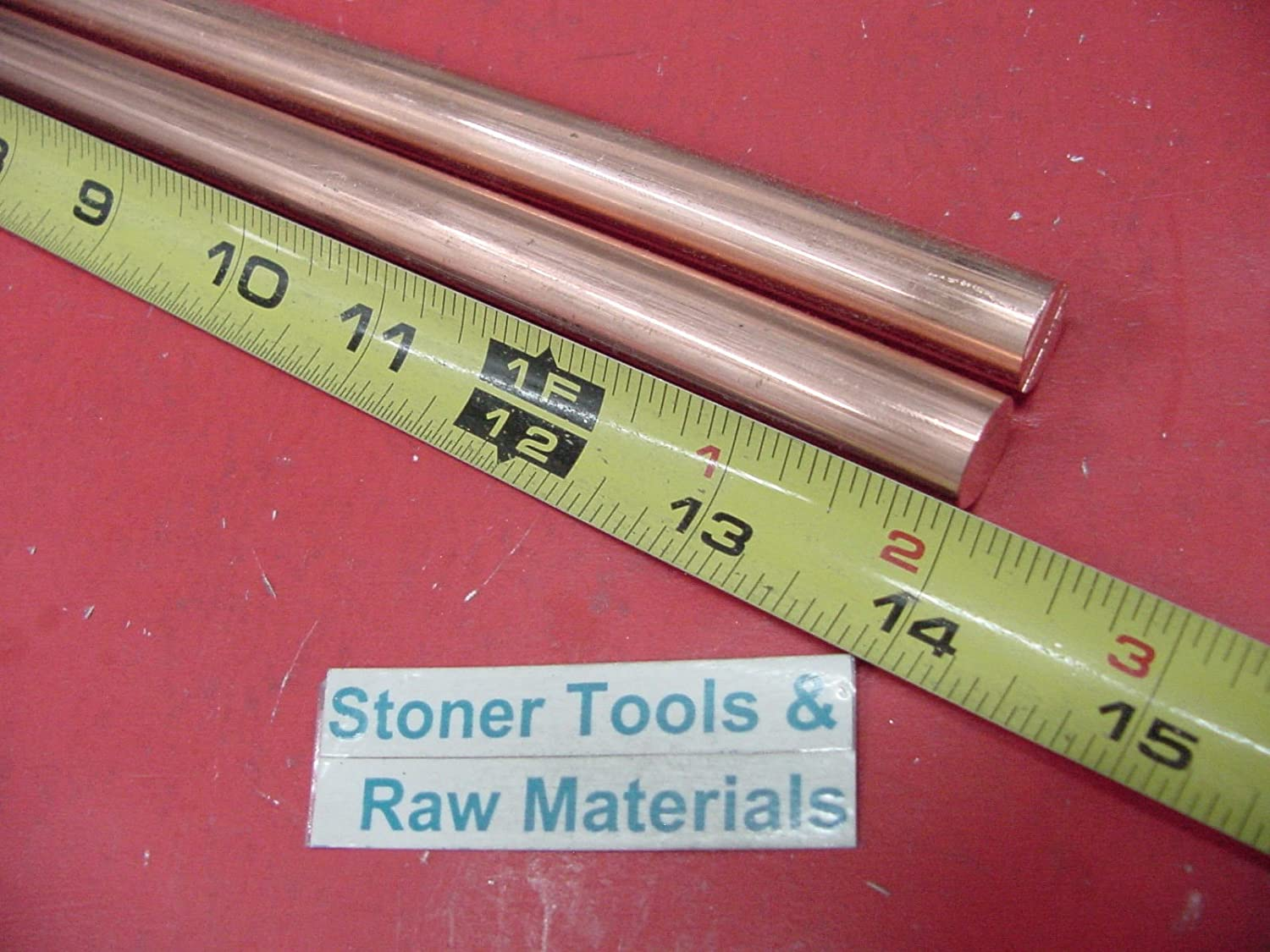 "3 Pieces 1//2/"" C110 COPPER ROUND ROD 12/"" long H04 Solid CU New Lathe Bar Stock"