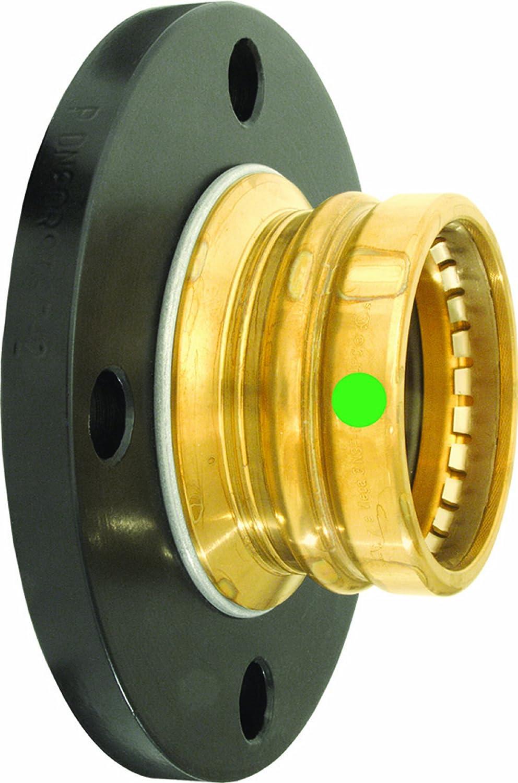 Viega 79695 ProPress Zero Lead Bronze Adapter Flange with 2-Inch Flange x P