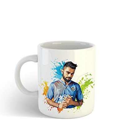 iKraft Unique Gift for Cricket Lover - Currently Captains The India  National Team Printed Tea Cup for Cricket Fans (Two Sides Print)