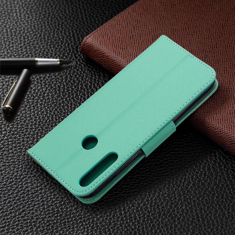 Tosim Coque Huawei P40 Lite E Y7p Honor 9C Portefeuille /Étui en Cuir Synth/étique Fonction Stand Case Housse Folio /à Rabat Compatible avec Huawei Y7p TOBFE130836 Bleu