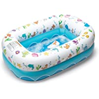 Mommy's Helper Inflatable Bathtub for Baby & Toddler; Saddle Horn Baby Bath Seat Keeps Baby from Sliding; Whimsical…
