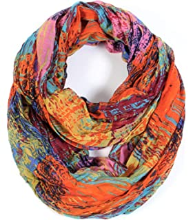 Lovely Ladies Soft Floral Infinity Scarf NEW P4 7 Colours