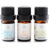 Prairie Essentials LIVE WELL Essential Oil Blends Set 5ml (3 Pack) Nature's Armour Protective, Free & Clear Congestive Blend, Get Going Revitalizing Blend 100% Pure, Undiluted, Therapeutic Grade Oils