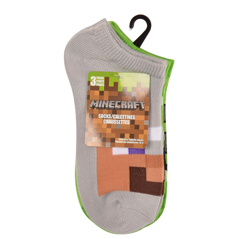 Multi Minecraft Little Boys Low Cut Socks 6 Pair Pack
