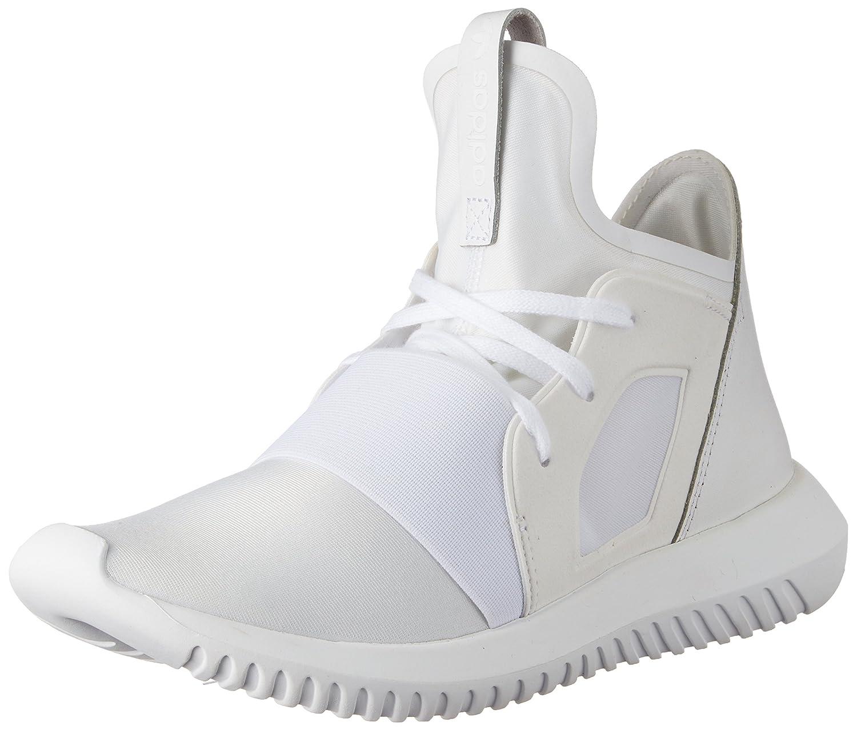 brand new 25a99 6086f Amazon.com | adidas Women's Tubular Defiant W, White/White ...