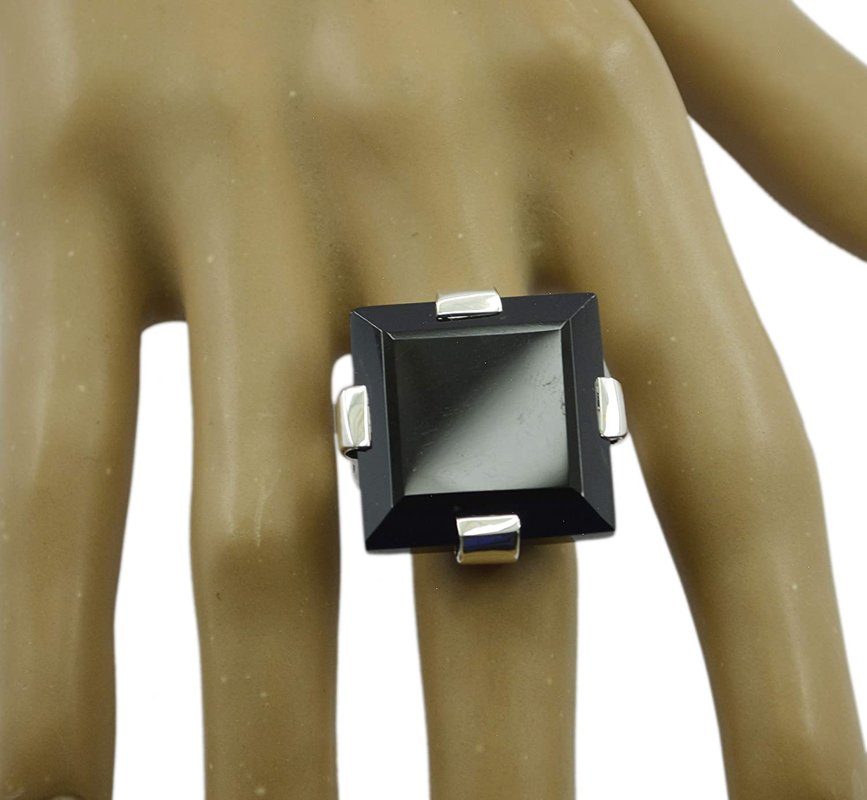 Black Onyx Black Gemstone Silver Ring Designer 925 Sterling Silver Ideal Genuine Black Ring
