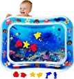MABIZ Tummy Time Baby Water Mat - Inflatable Water Play Mat For Newborn Boy and Girl Stimulation Growth Toddler Sensory Toys BPA-Free - Infant Activity Play Mats Fun Toy For Babies 3 - 12 Months Development