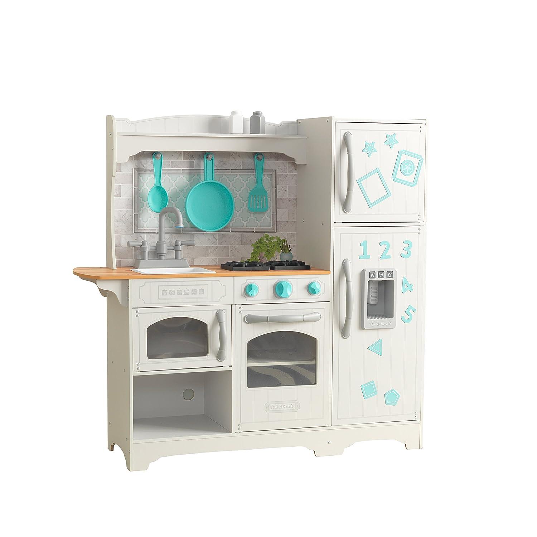 KidKraft 53424 Cocina de juguete Countryside de madera para para para nintilde;os con frigoriacute;fico magneacute;tico, dispensador de hielo de juguete y accesorios de juego incluidos 76d5a1